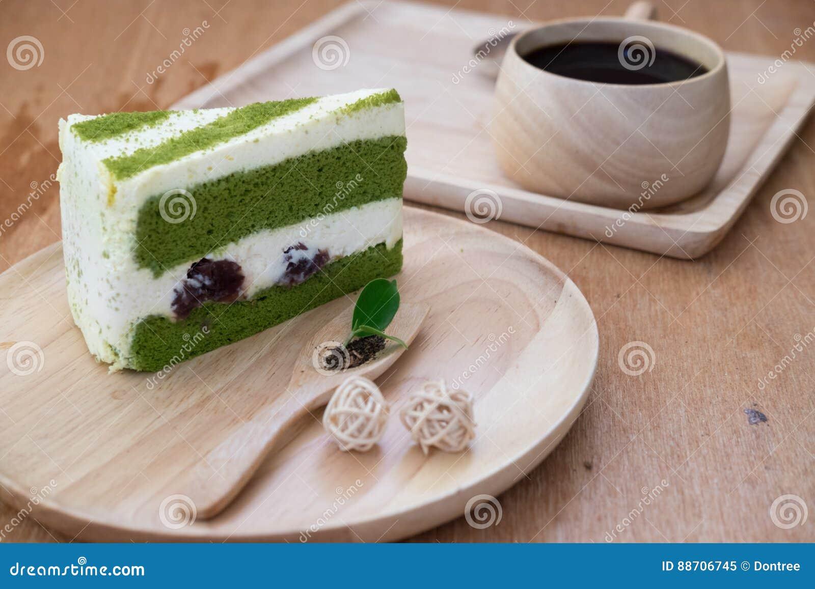 Japanischer Matcha Kuchen Des Grunen Tees Stockbild Bild Von