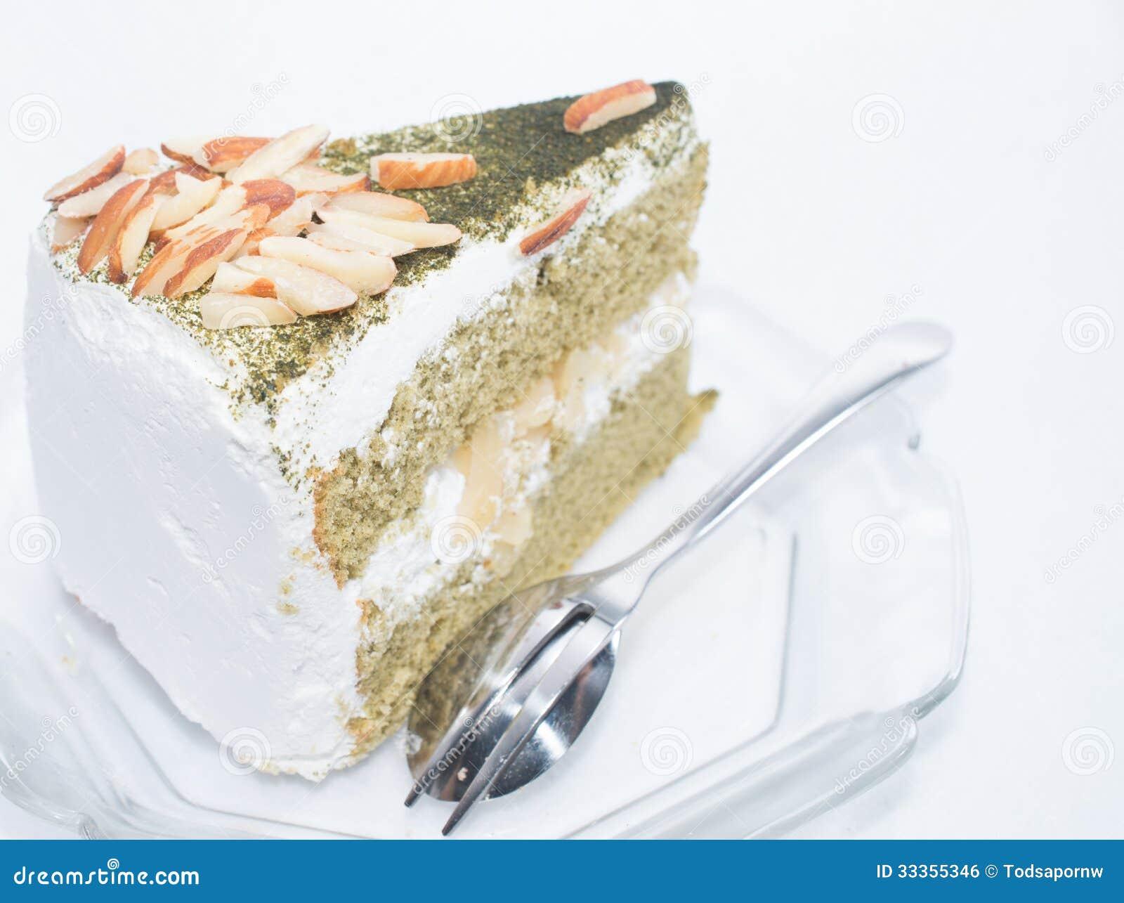 Japanischer Matcha Kuchen Grunen Tees Stockfoto Bild Von