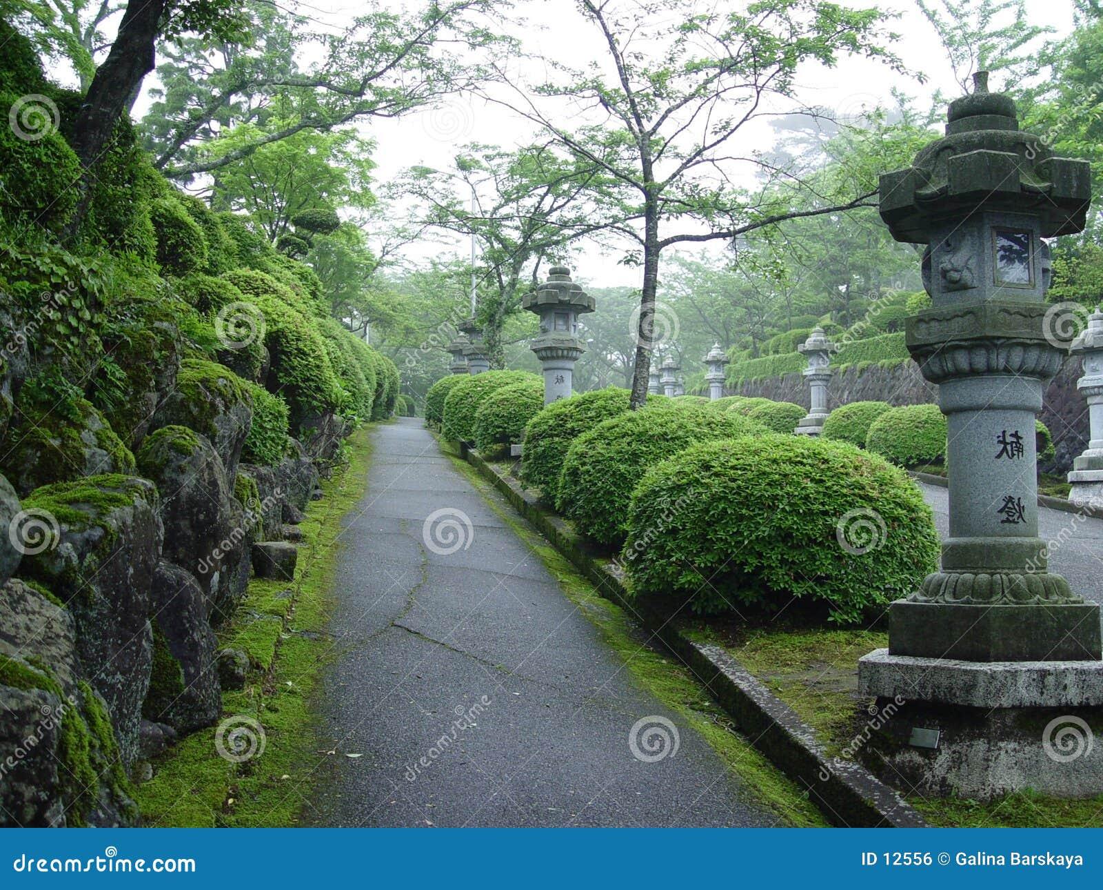Japanischer Park in Tokyo