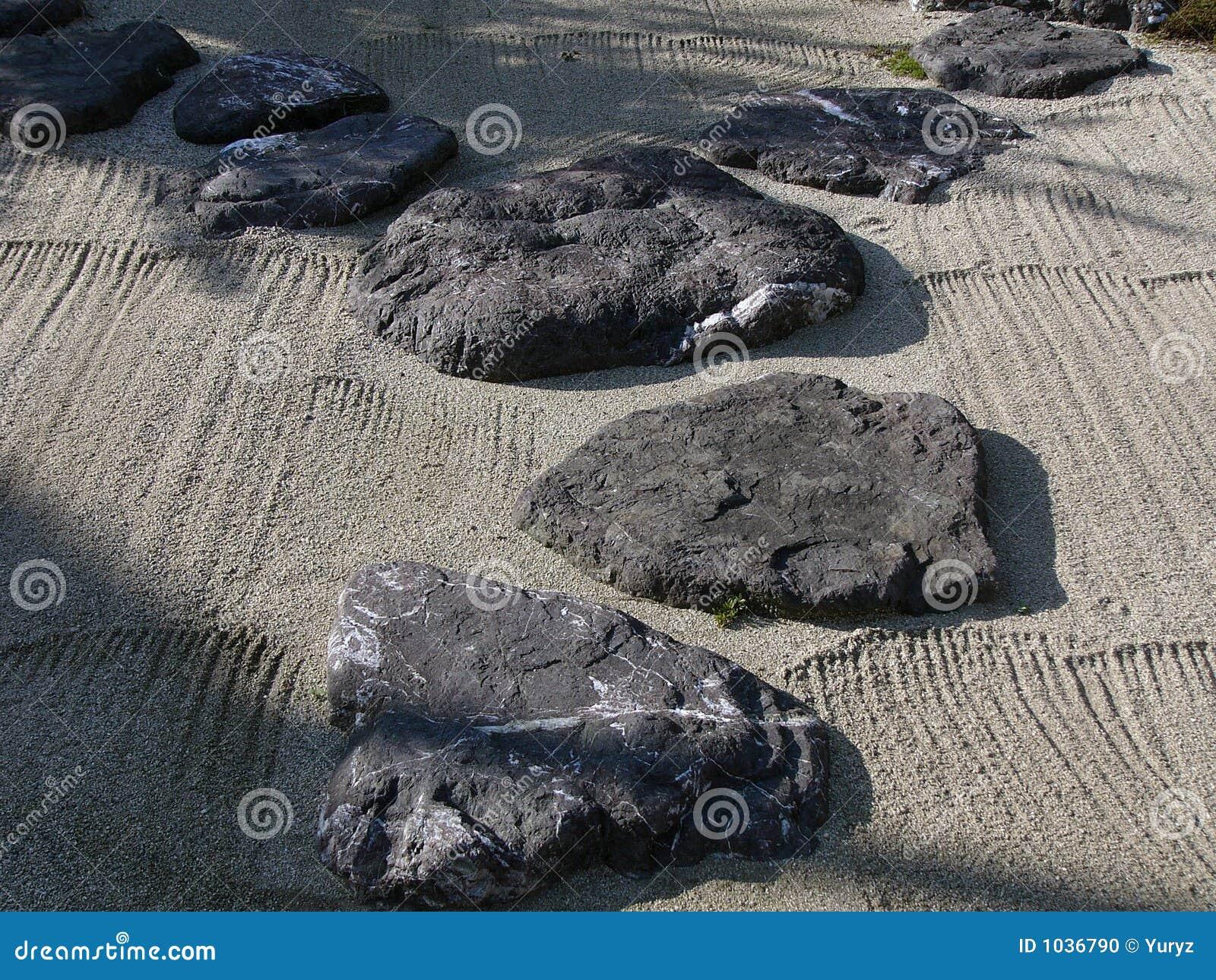 Japanischer steingarten stockfoto bild von tokyo wand - Japanischer steingarten ...