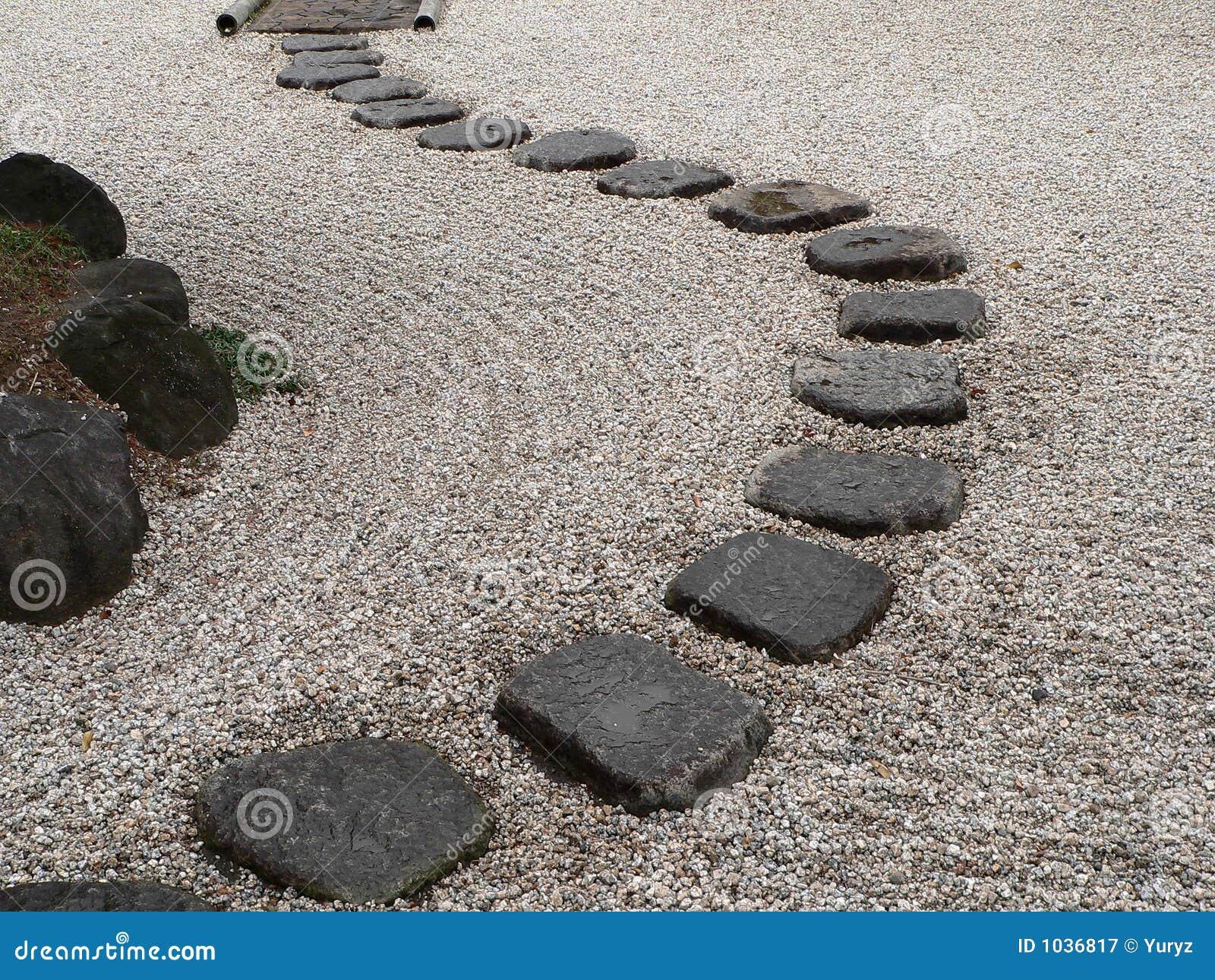 japanischer steingarten lizenzfreie stockfotografie - bild: 1036817, Garten ideen