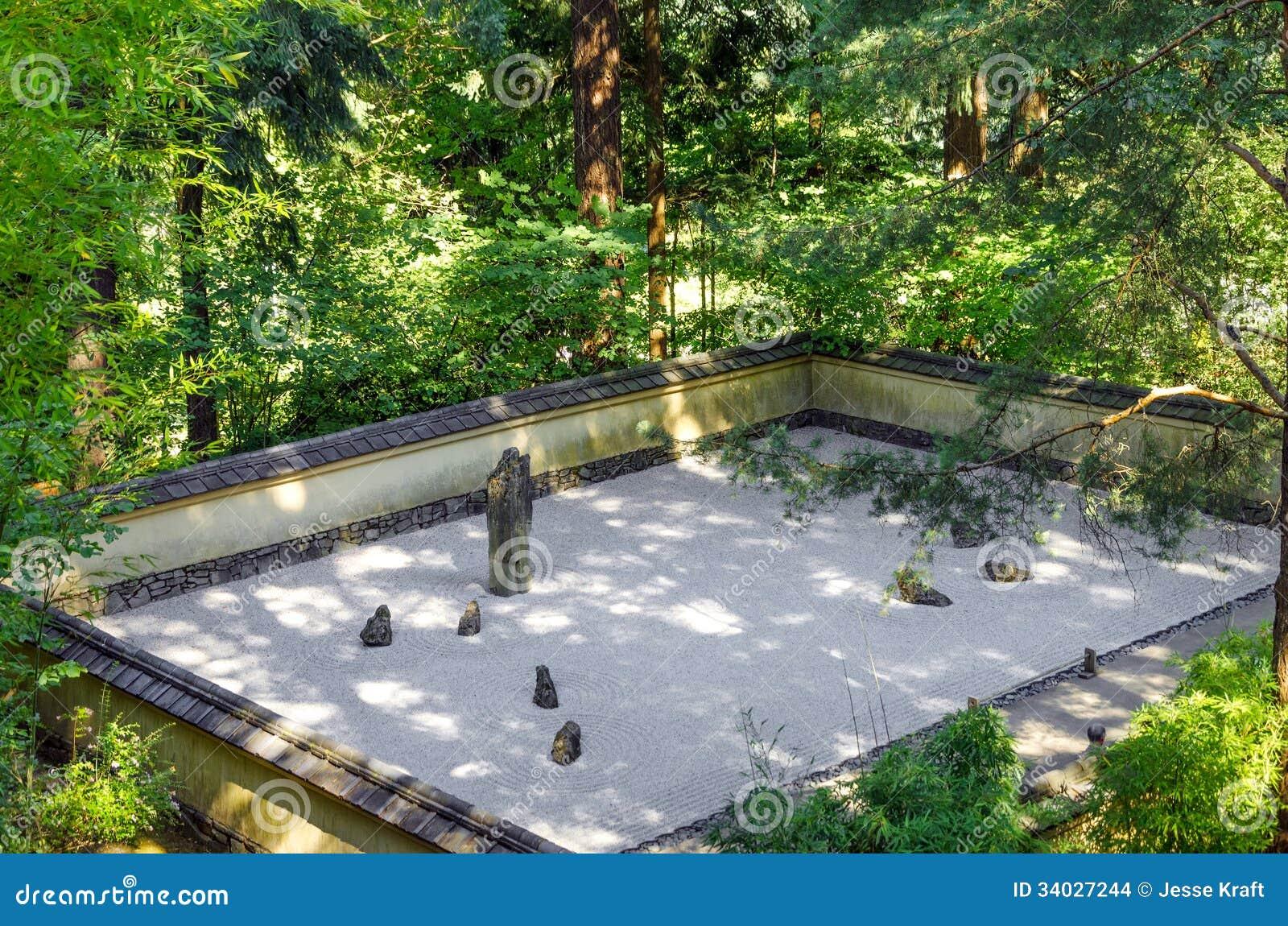 japanischer steingarten stockbilder bild 34027244. Black Bedroom Furniture Sets. Home Design Ideas