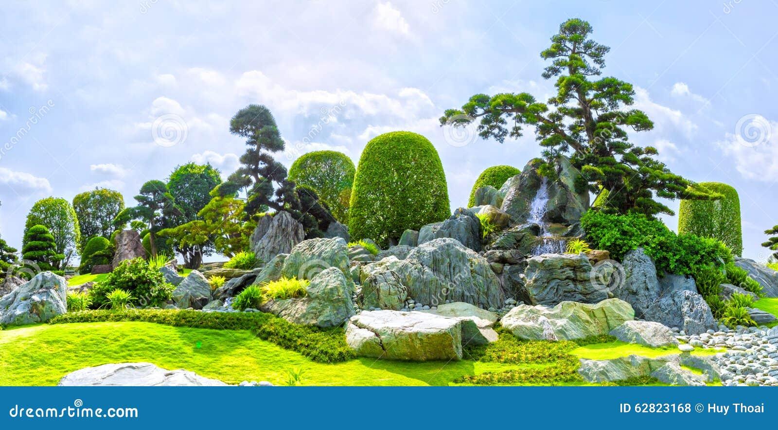 Japanischer steingarten in vietnam stockfoto bild von - Japanischer steingarten ...