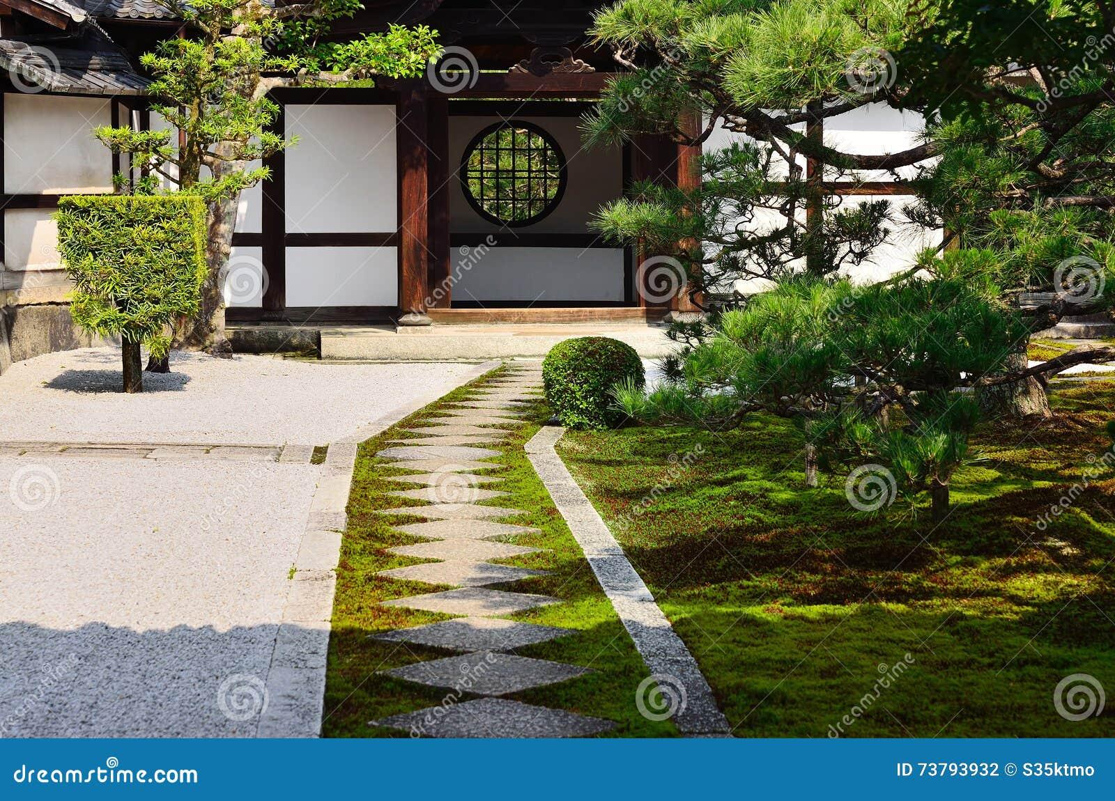 Japanischer Zengarten von Kenninji-Tempel, Kyoto Japan