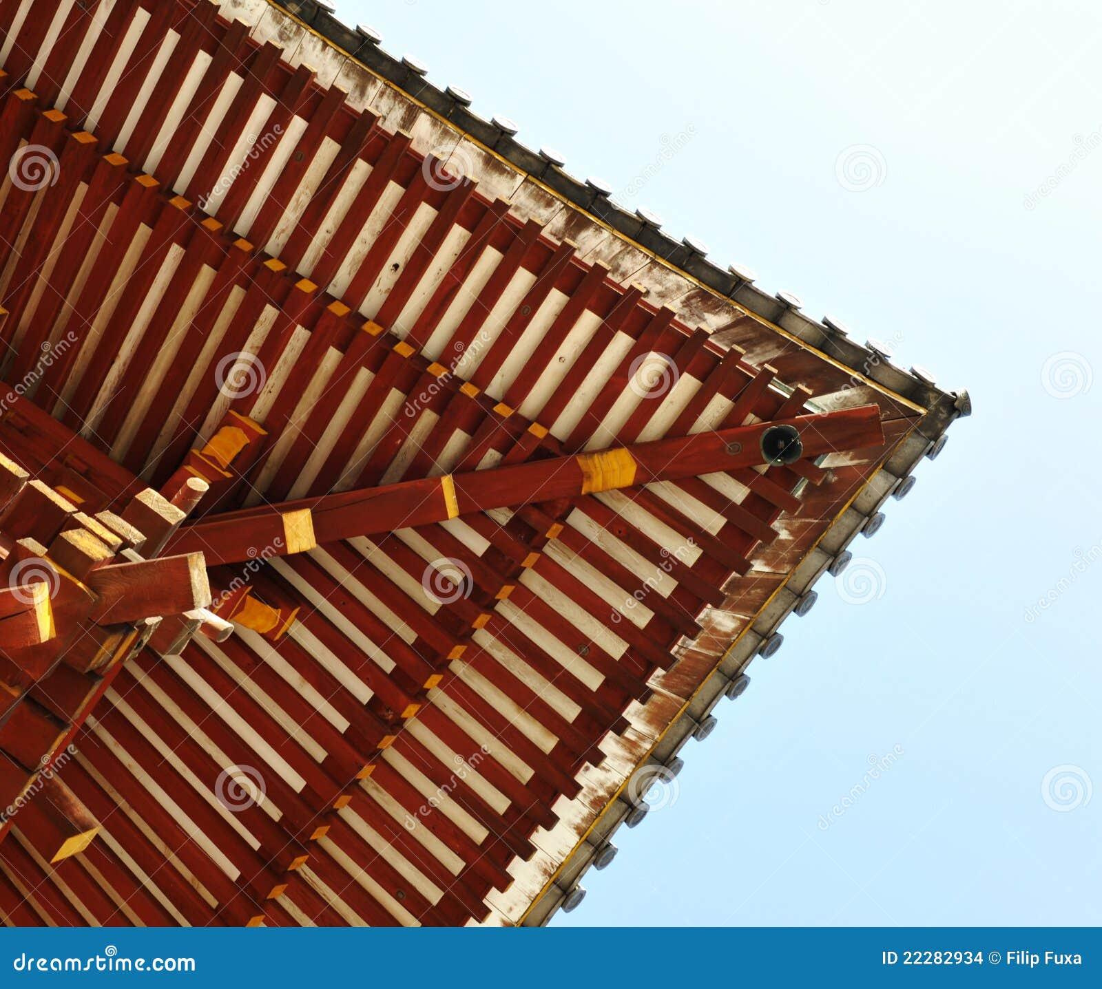 Japanisches Dach japanisches dach stockfoto bild bügel holz feld 22282934