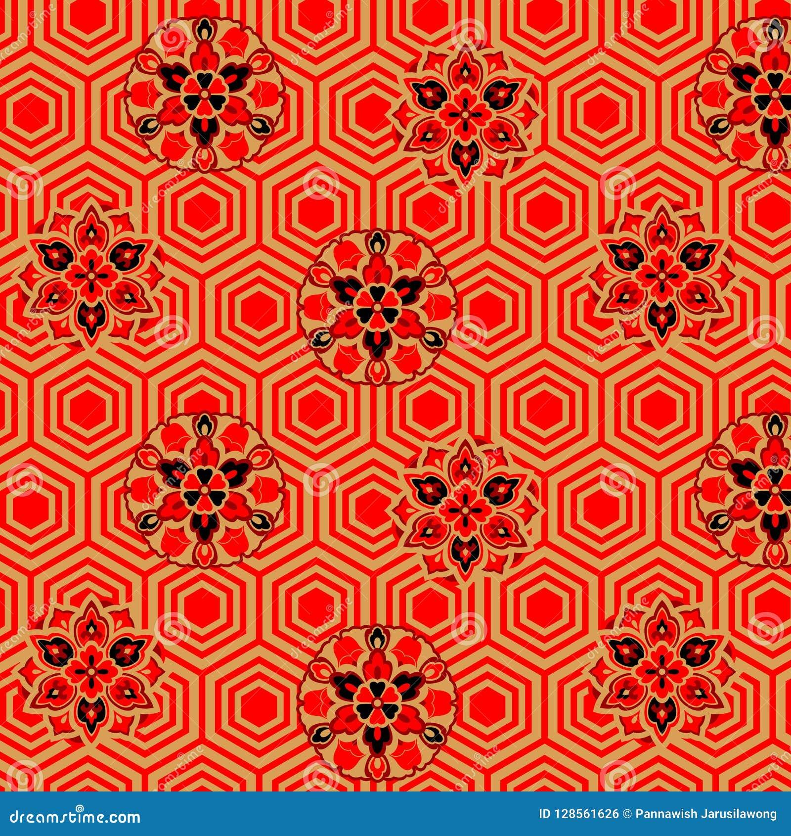 Japans Bloemenschildpadpatroon