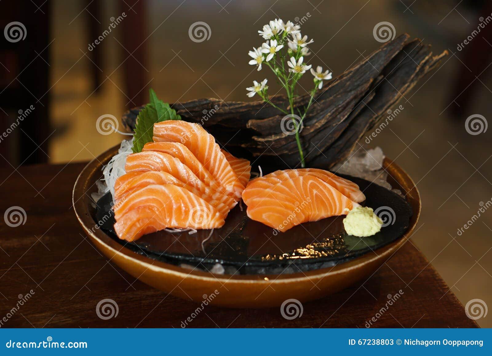 Japans voedsel - Salmon Sashimi