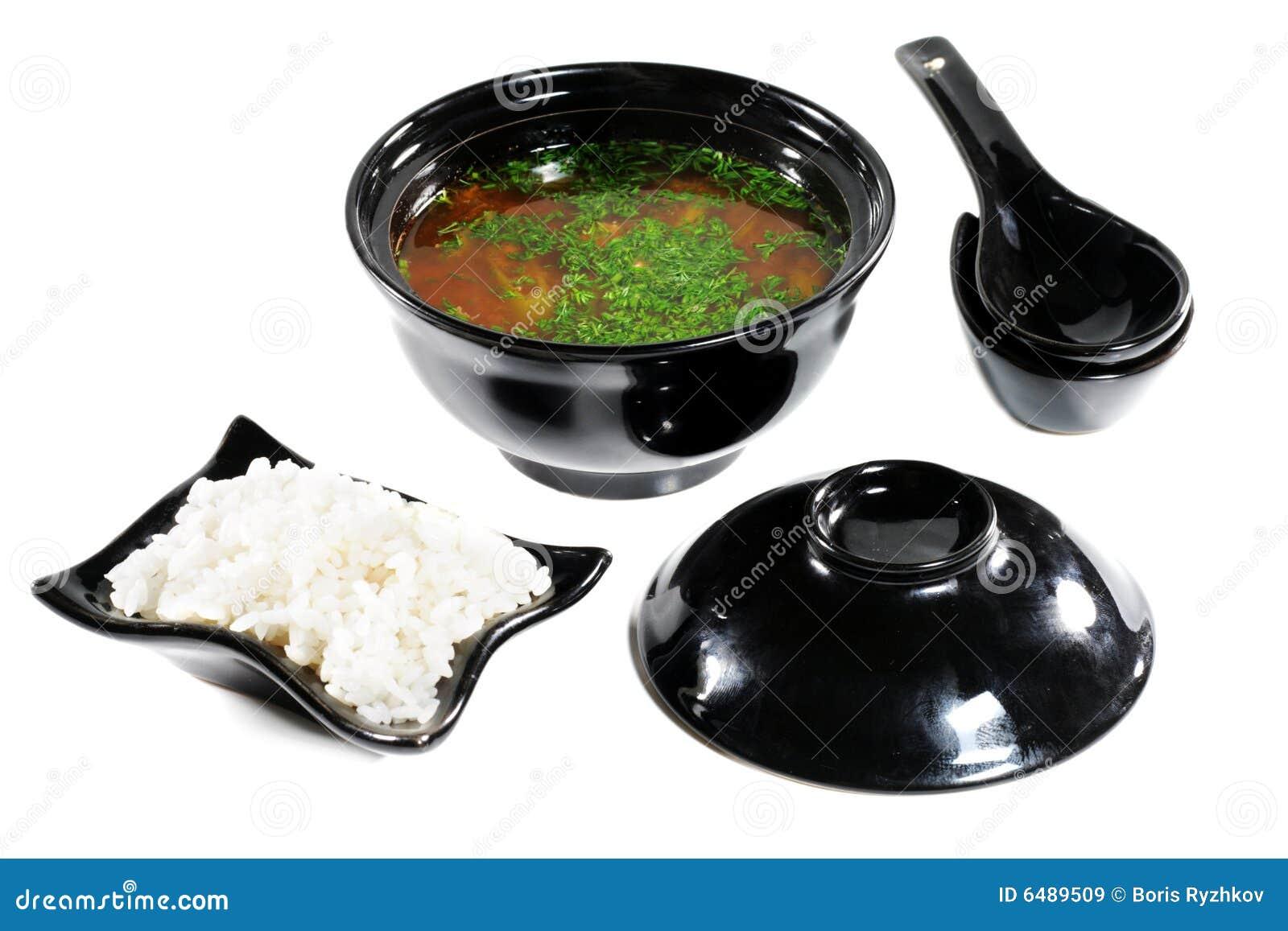 Achtergrond Witte Keuken : Japanse Keuken -- Soep Royalty-vrije Stock ...