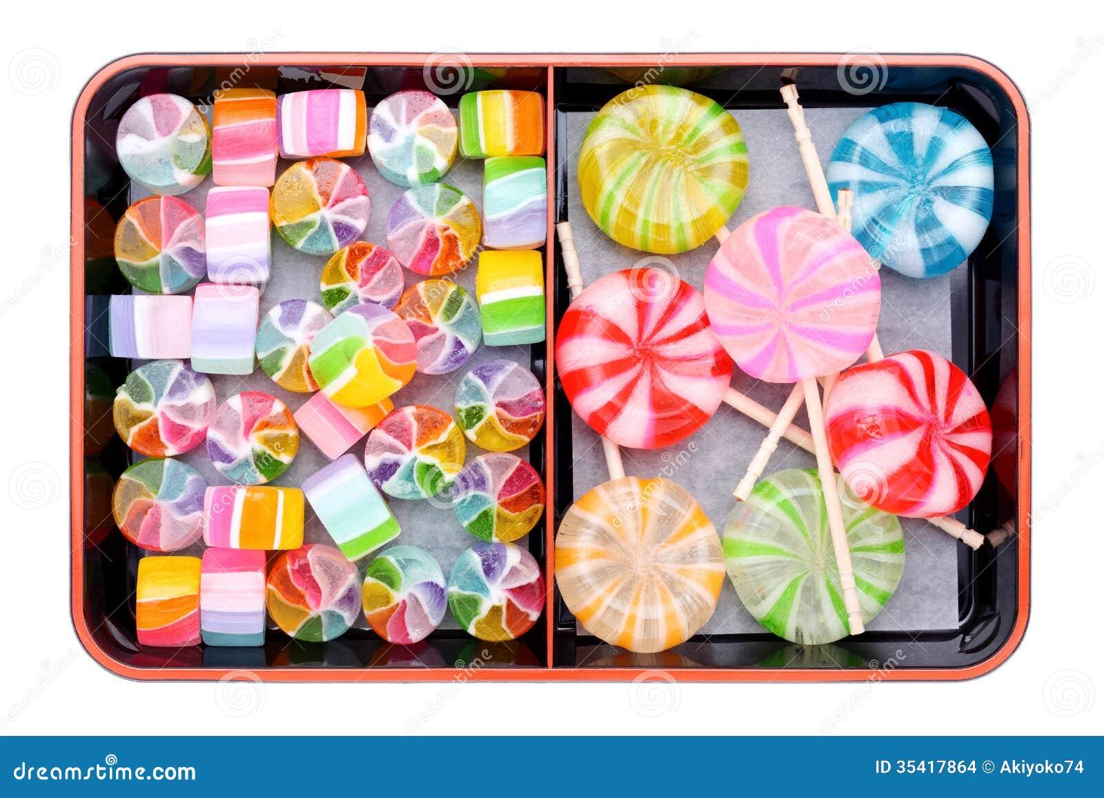 Japanse kleurrijk suikergoed
