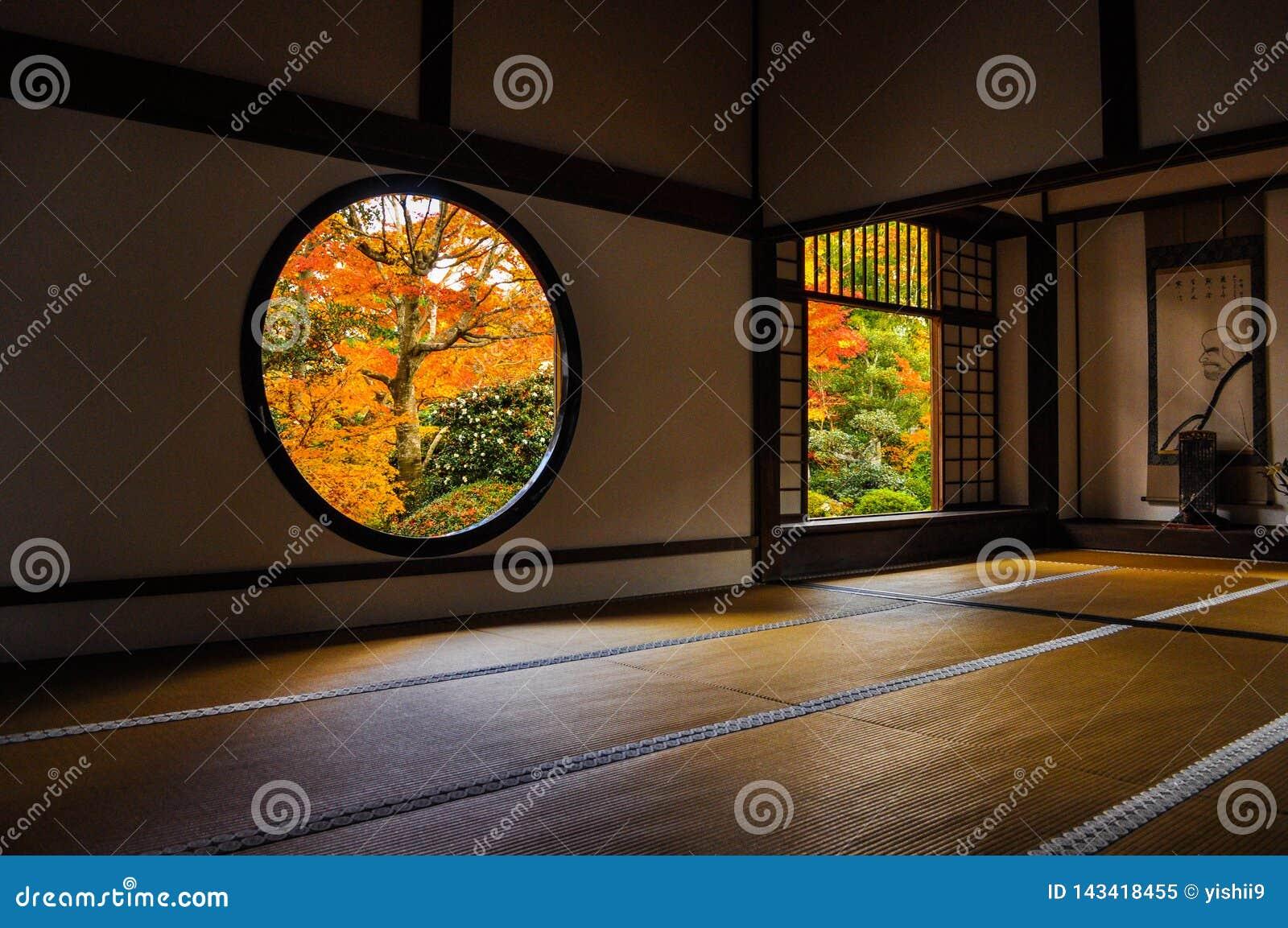 Japanse ruimte in een oude tempel
