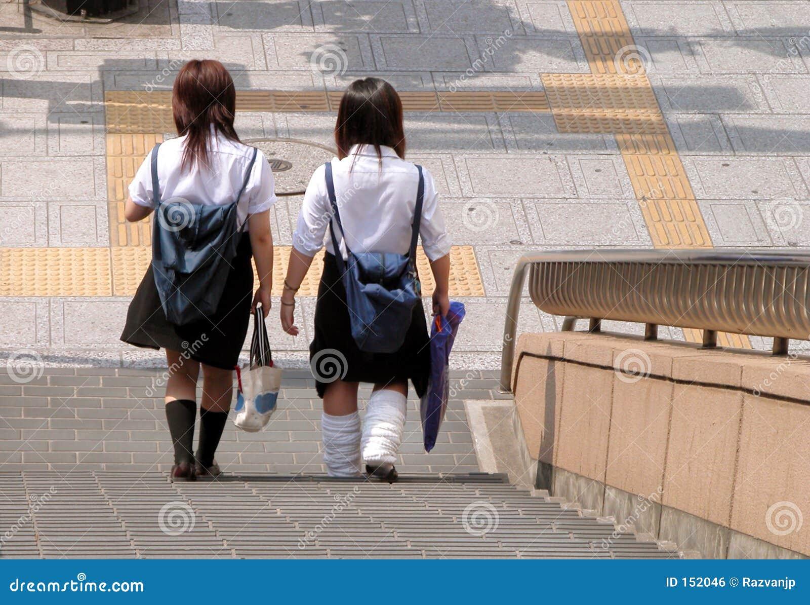 Japanse schoolmeisjes