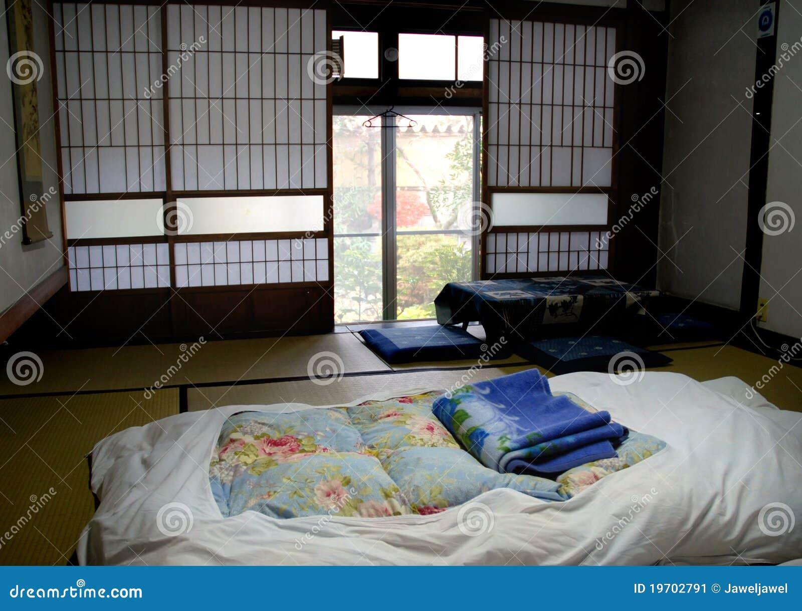 Japanse slaapkamer stock afbeelding   afbeelding: 19702791