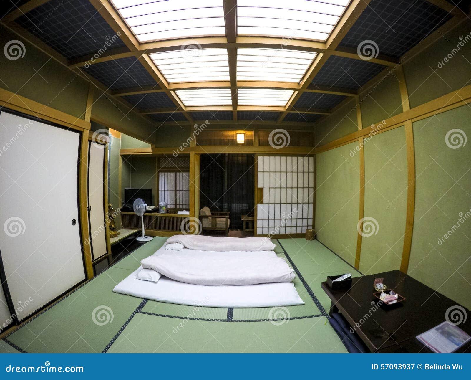 Japanse tatami slaapkamer stock foto afbeelding 57093937 - Japanse deco slaapkamer ...