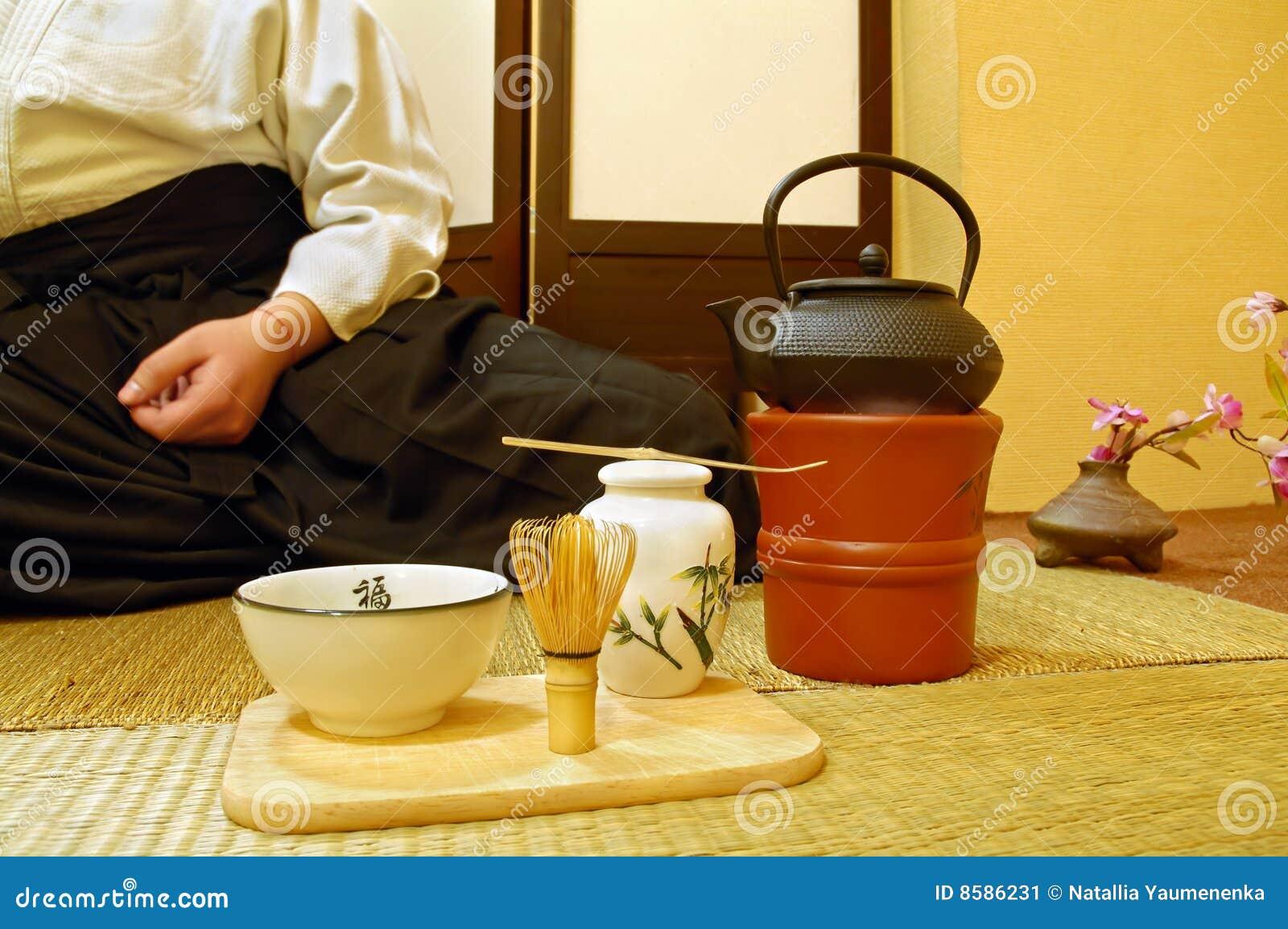 Japanse Theeceremonie Stock Afbeelding Afbeelding 8586231