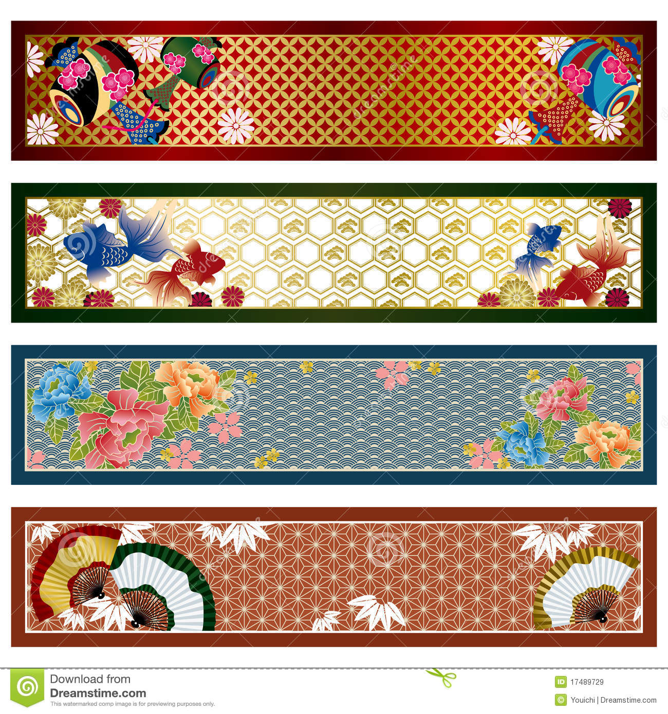 Japanse traditionele banners