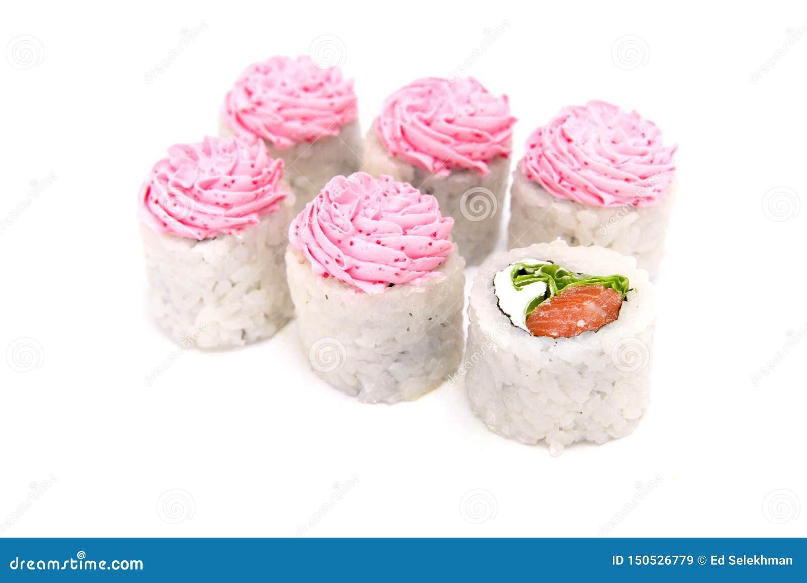 Japanse traditionele die keukenbroodjes op witte achtergrond worden geïsoleerd