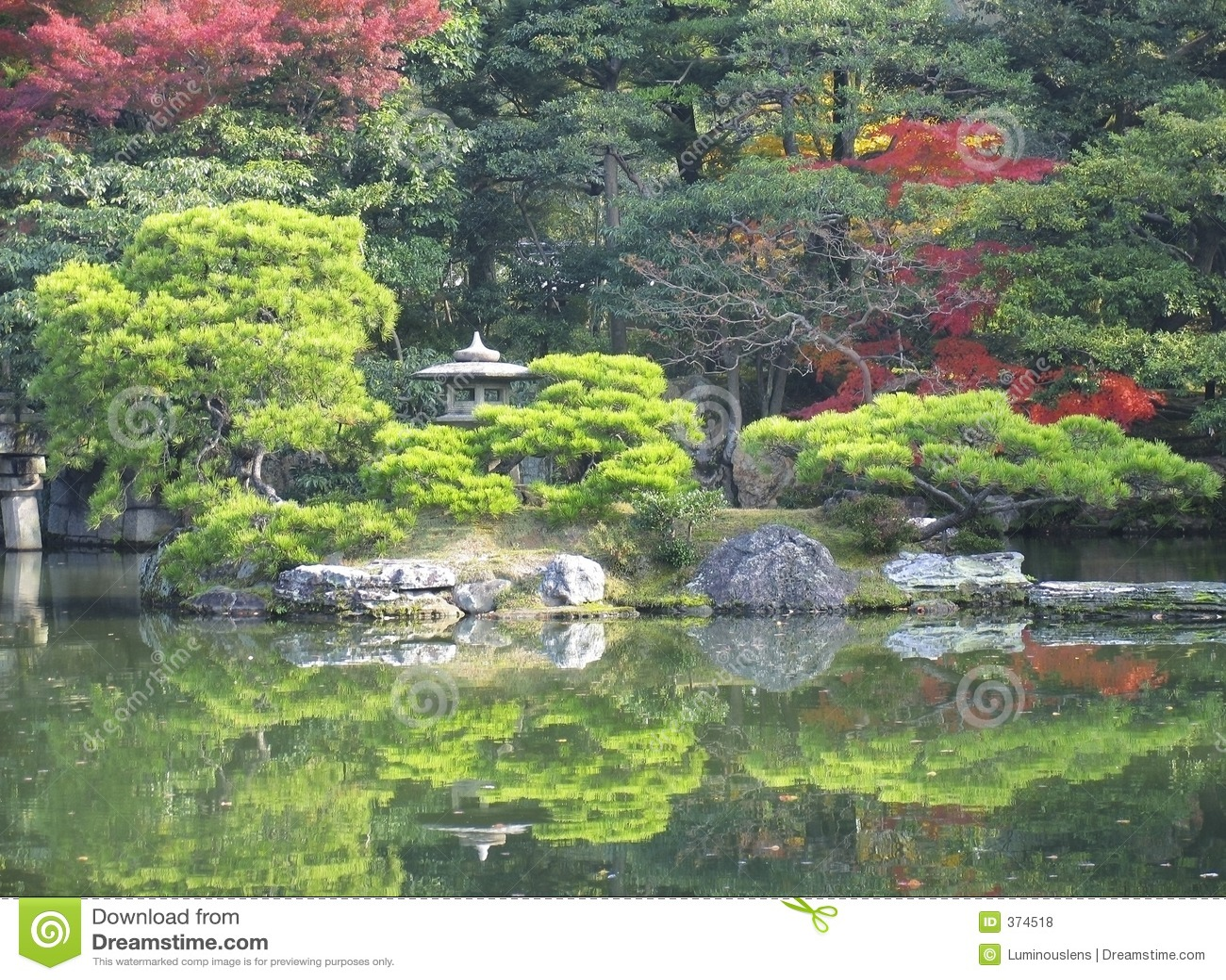 Japanse tuin en vijver royalty vrije stock foto 39 s afbeelding 374518 - Foto van tuin vijver ...