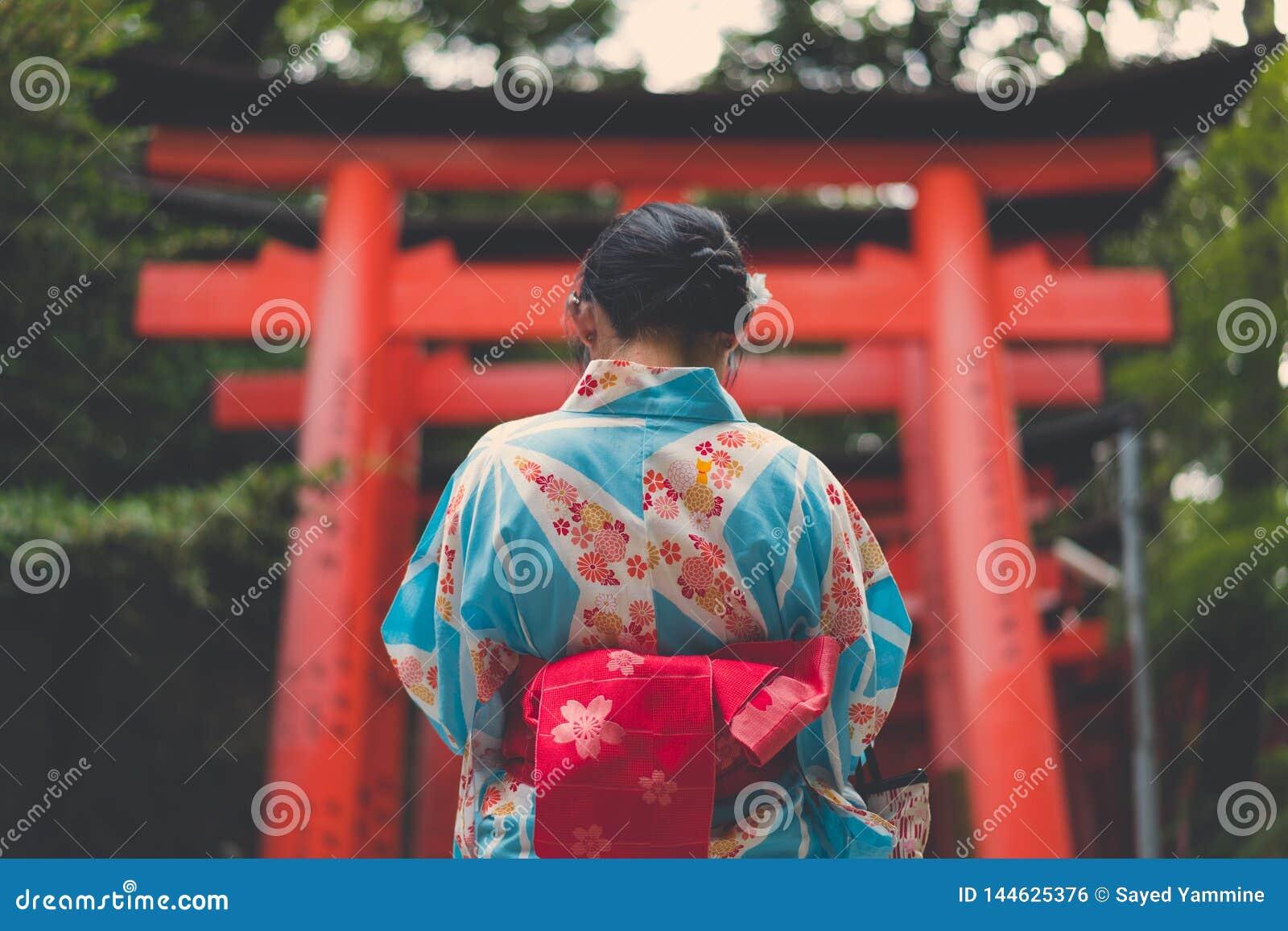 japanska kimono kön