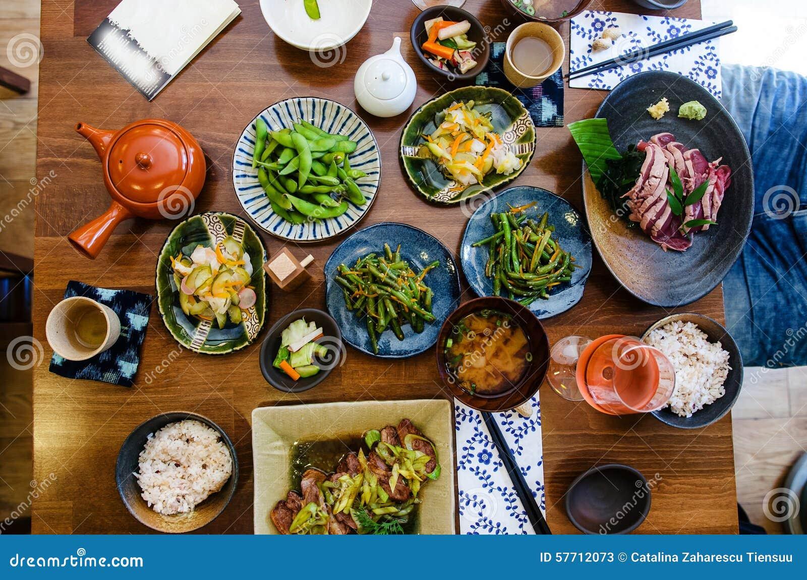 Japansk mat på restaurangen