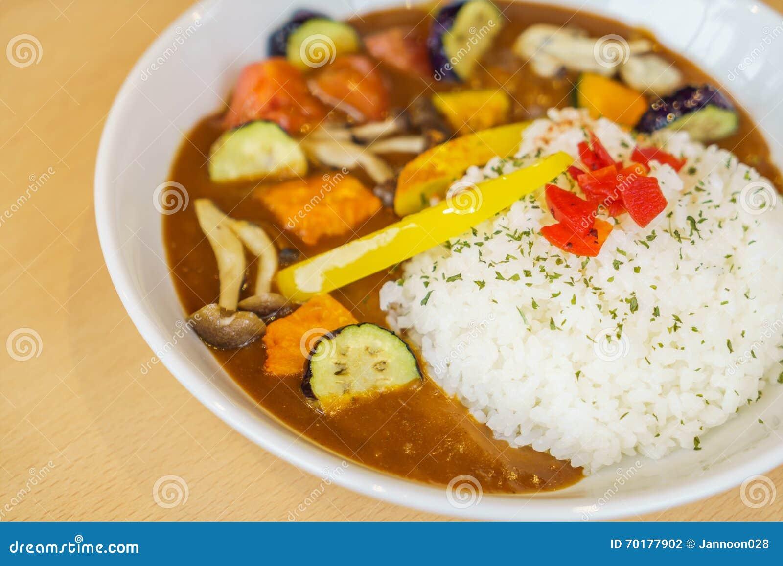 Japansk matstilcurry med ris