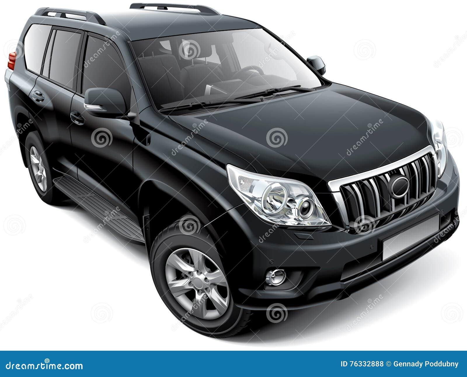 Japansk Mitt--format Lyx SUV Vektor Illustrationer - Bild: 76332888