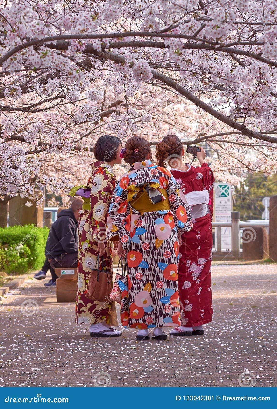 Japanska selfies av damer