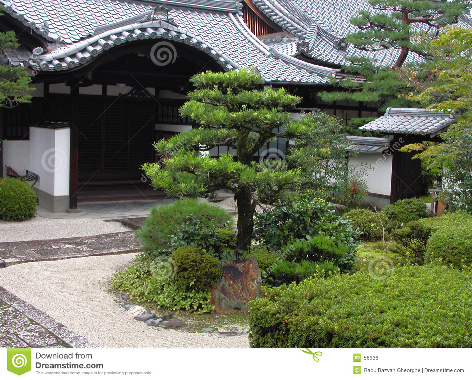 Japońska ogrodowa świątyni