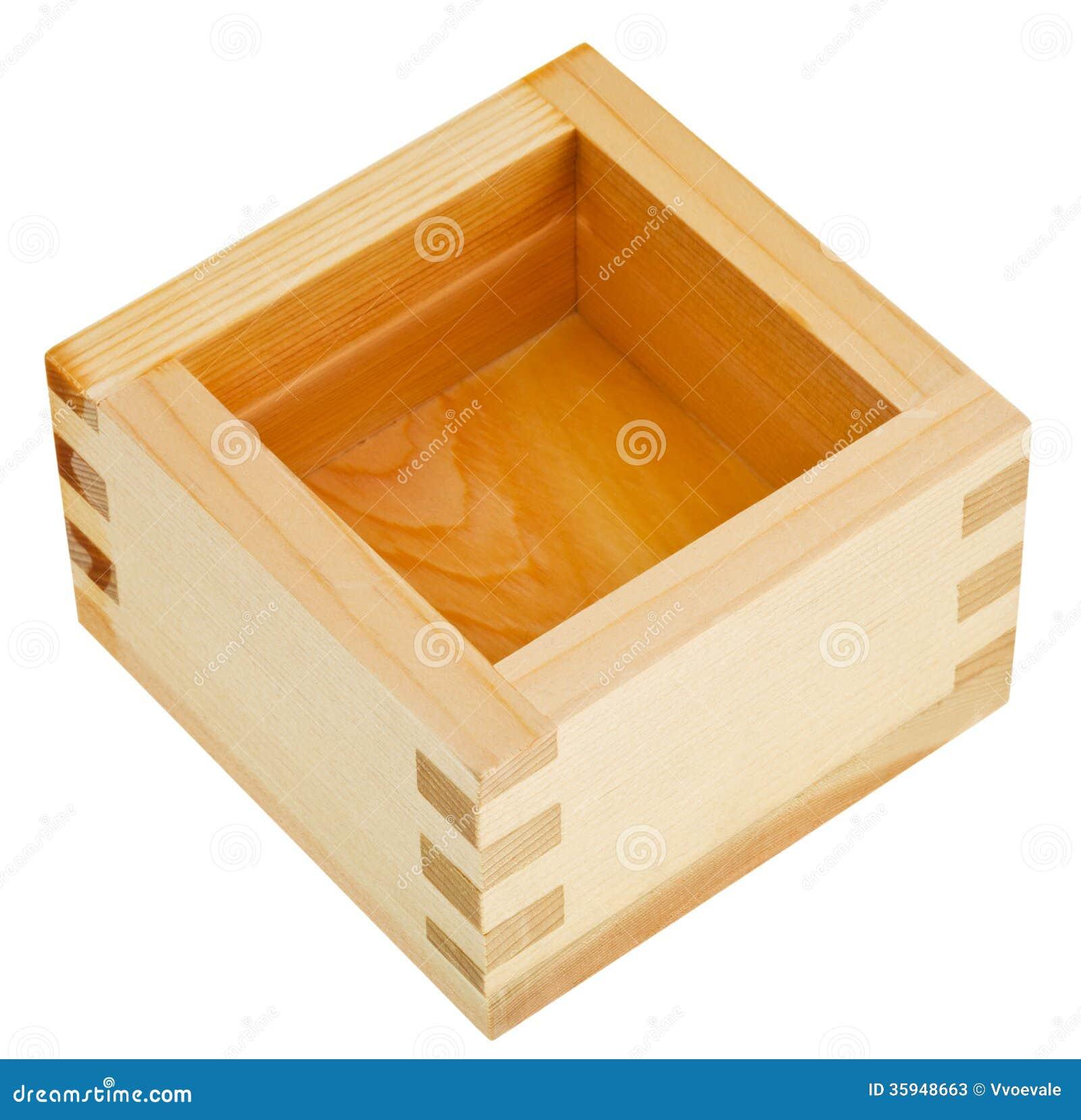 Japoński drewnianego pudełka masu z sztuka dla sztuki