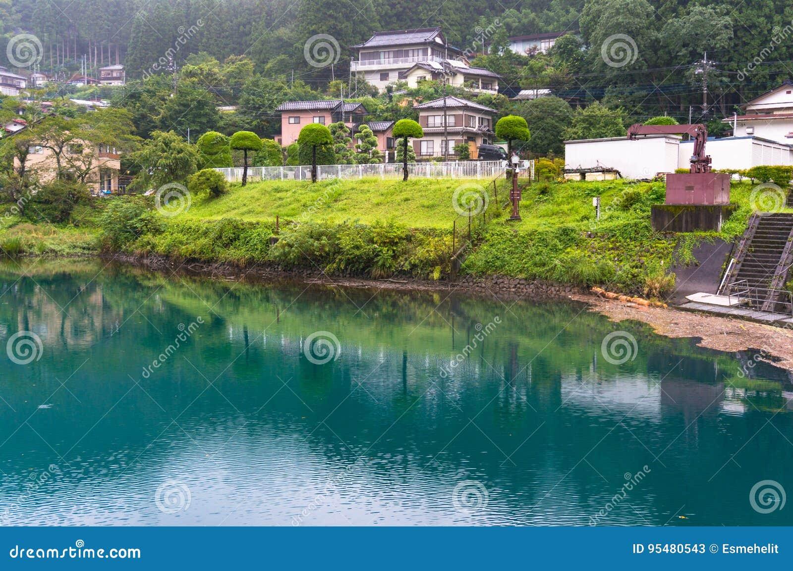 Japoński wieś krajobraz miasteczko