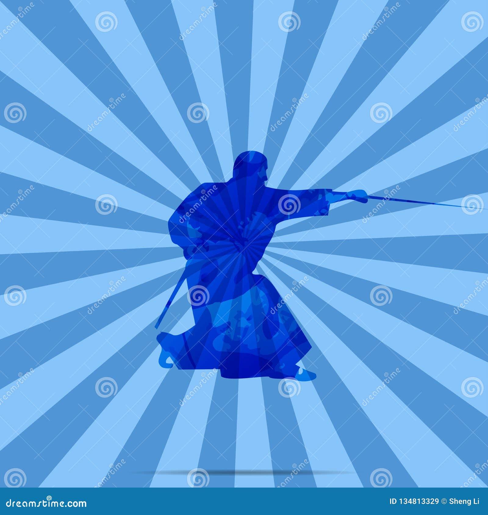 Japoński wojownik i fechmistrz, samuraj