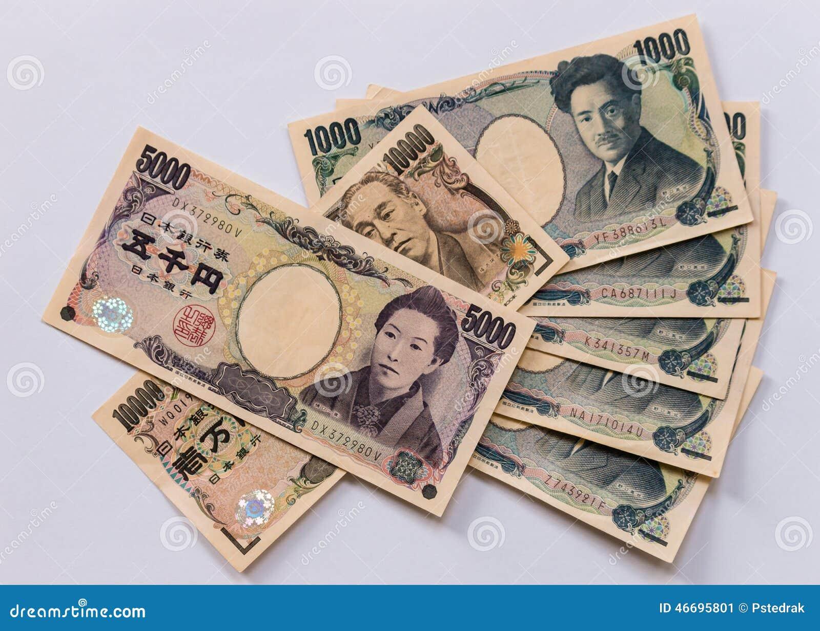 Japońskiego jenu banknoty