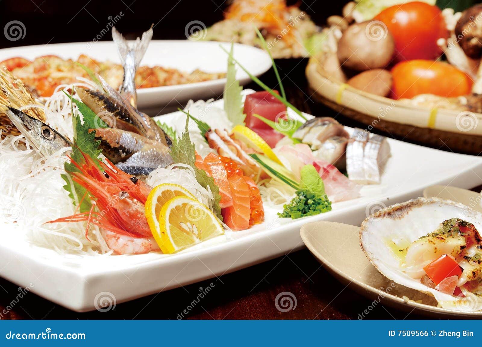 Japonais de nourriture image libre de droits image 7509566 for Poisson japonais nourriture