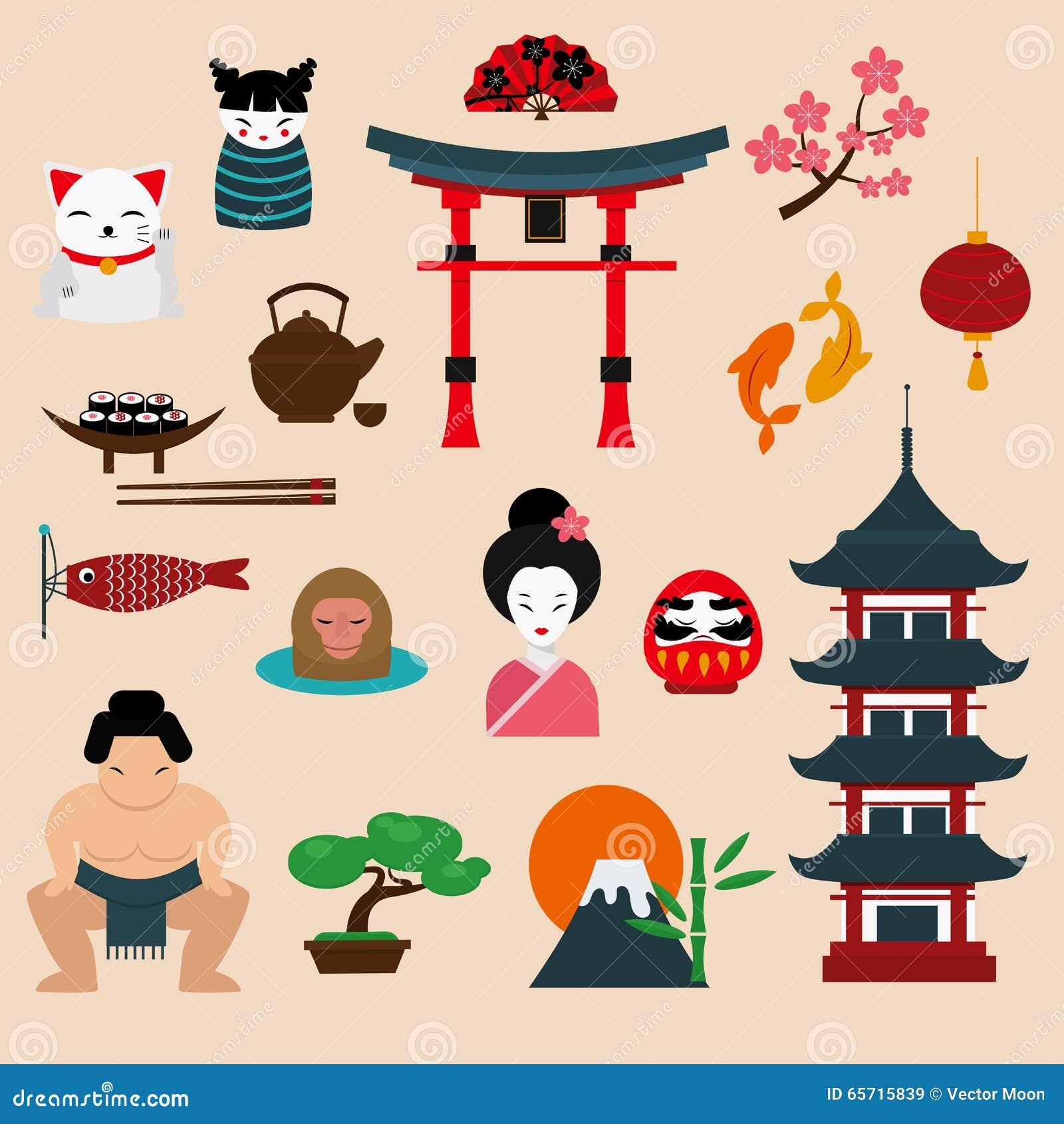 Japonia podróży wektoru ilustracja