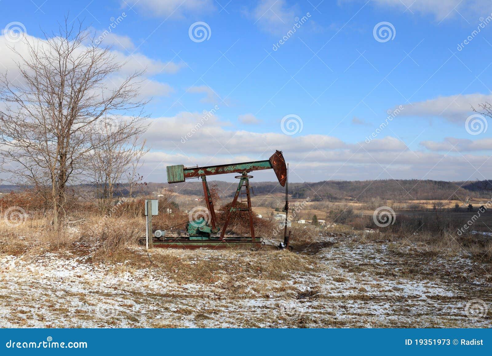 Jaque da bomba do campo petrolífero