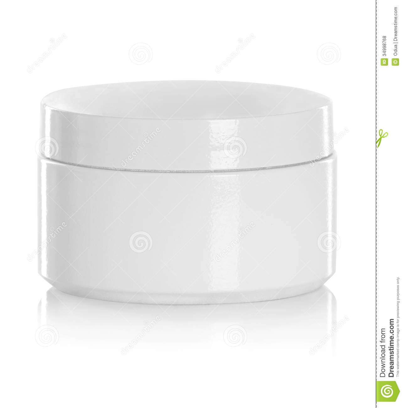 Jar Or Blank Packaging For Cosmetic Product Stock Photo