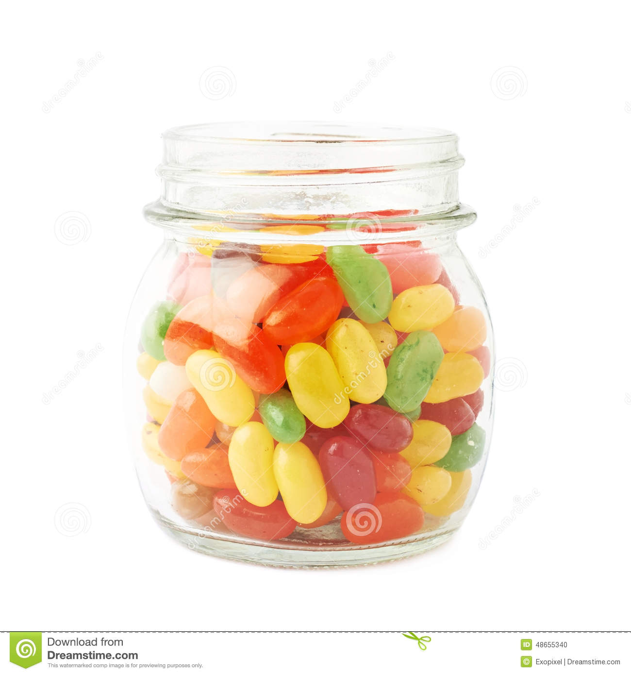 jar full of jelly bean candies isolated stock photo. Black Bedroom Furniture Sets. Home Design Ideas