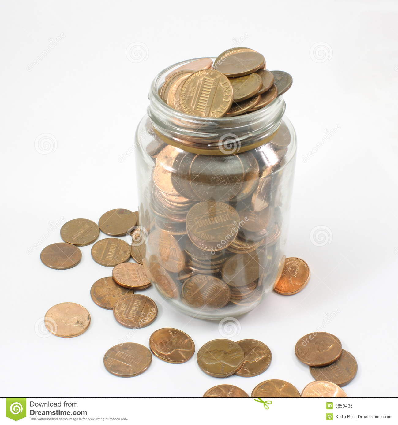 jar full of pennies stock photo image of cent glass