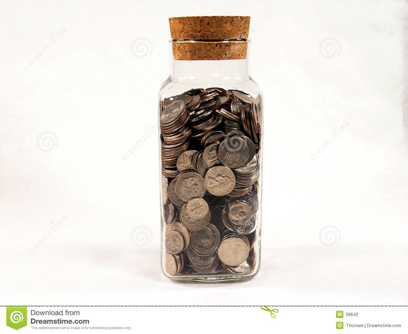 Jar Full of Silver Coins