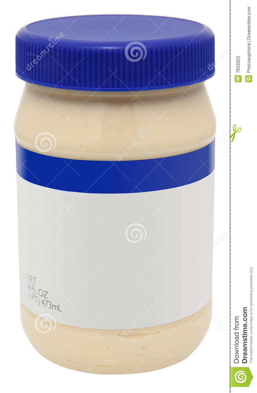 Jar of Mayonaise with blank label