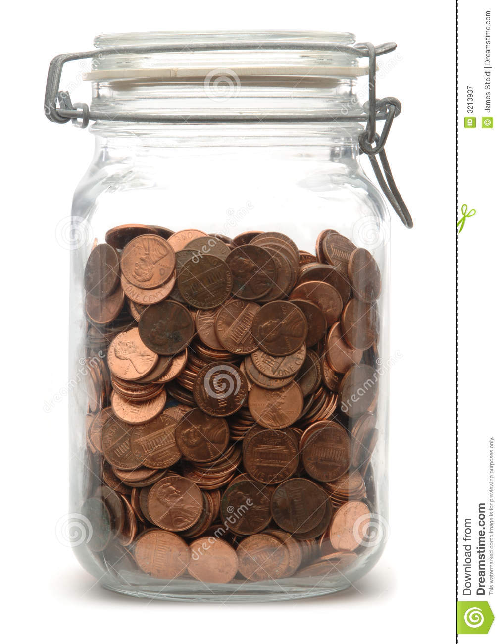 jar of pennies royalty free stock photography image 3213937