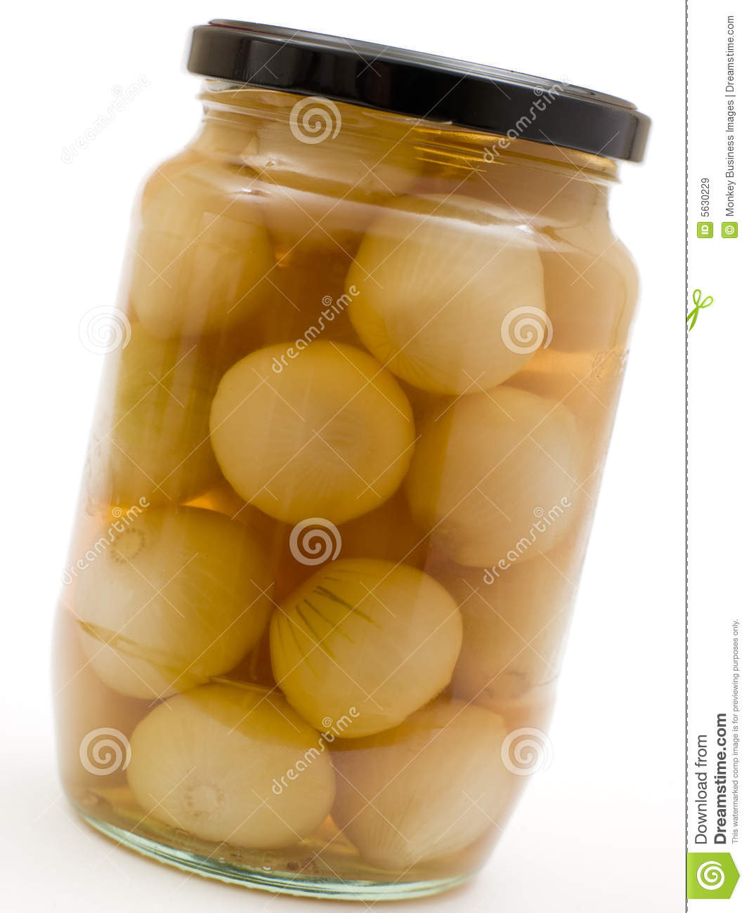 Jar of Pickled Onions stock image  Image of english