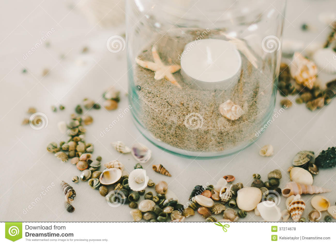 Jar of sand amp shells royalty free stock photos image 37274678