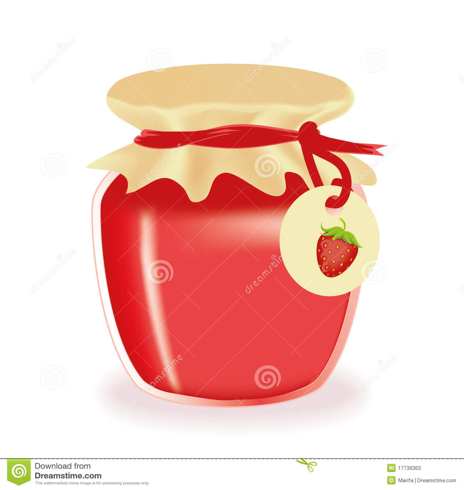 jar of strawberry jam stock vector illustration of