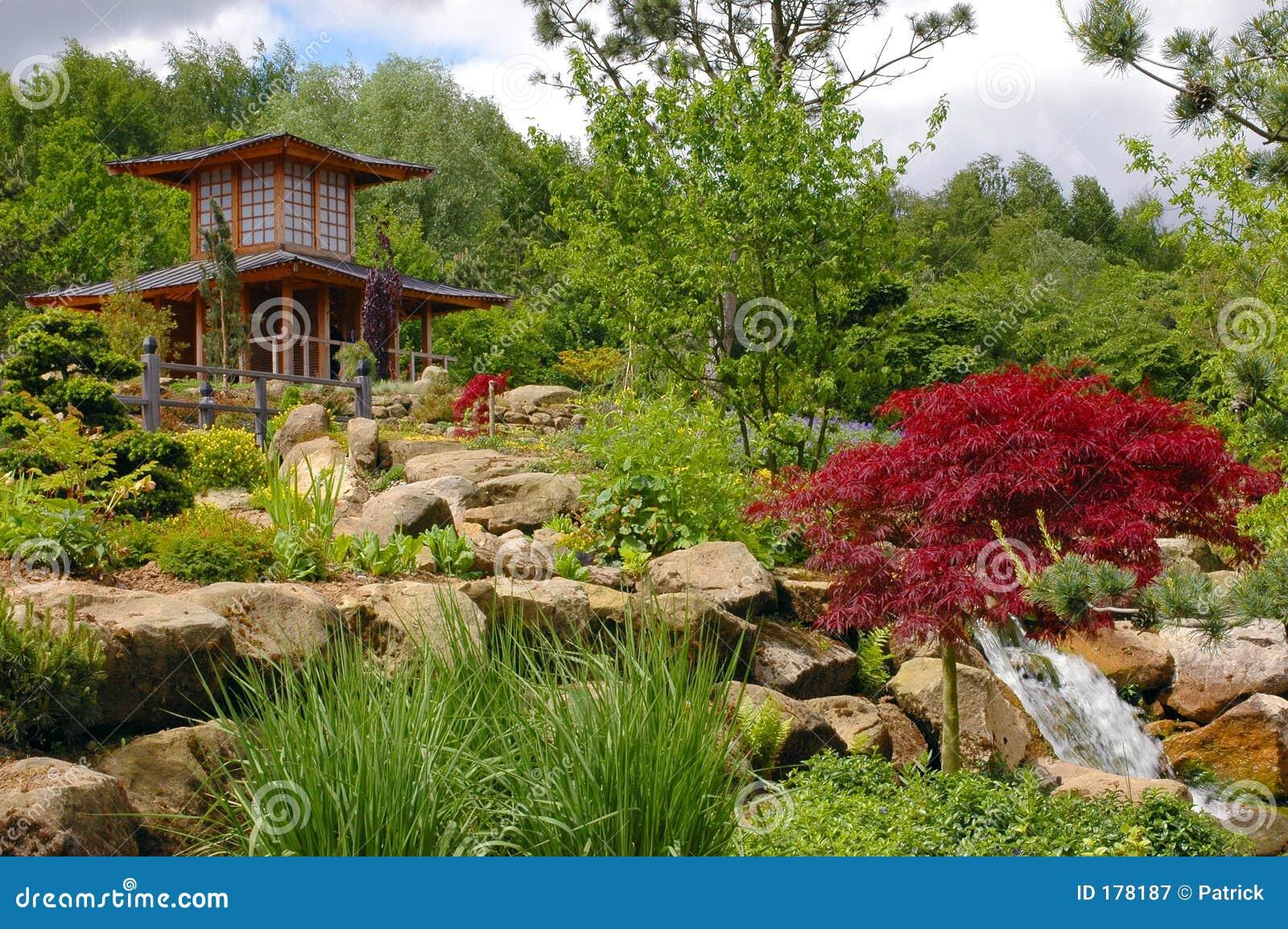 Jardín chino, japonés.