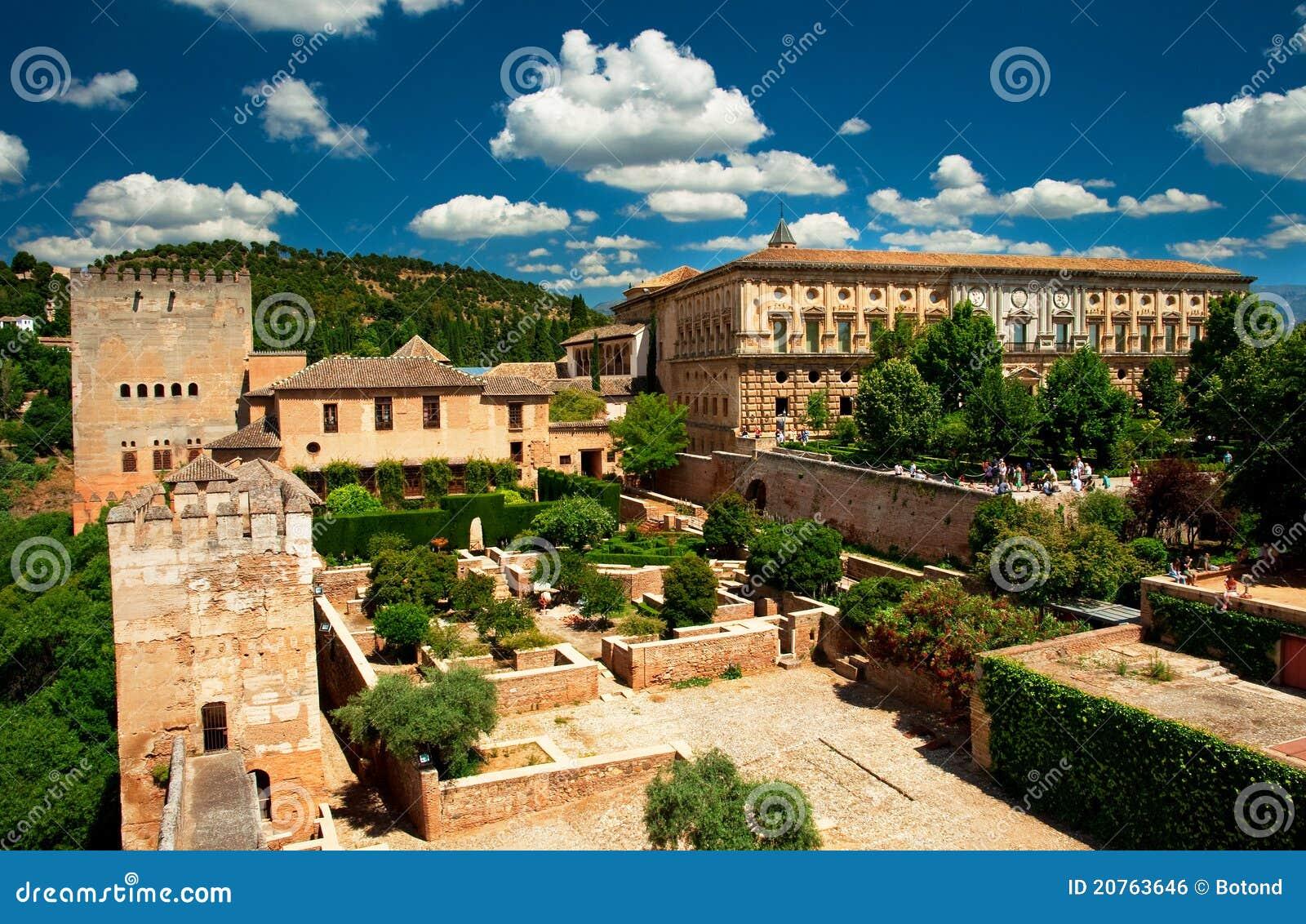 Jard n de alhambra foto de archivo imagen de famoso for Ciudad jardin granada