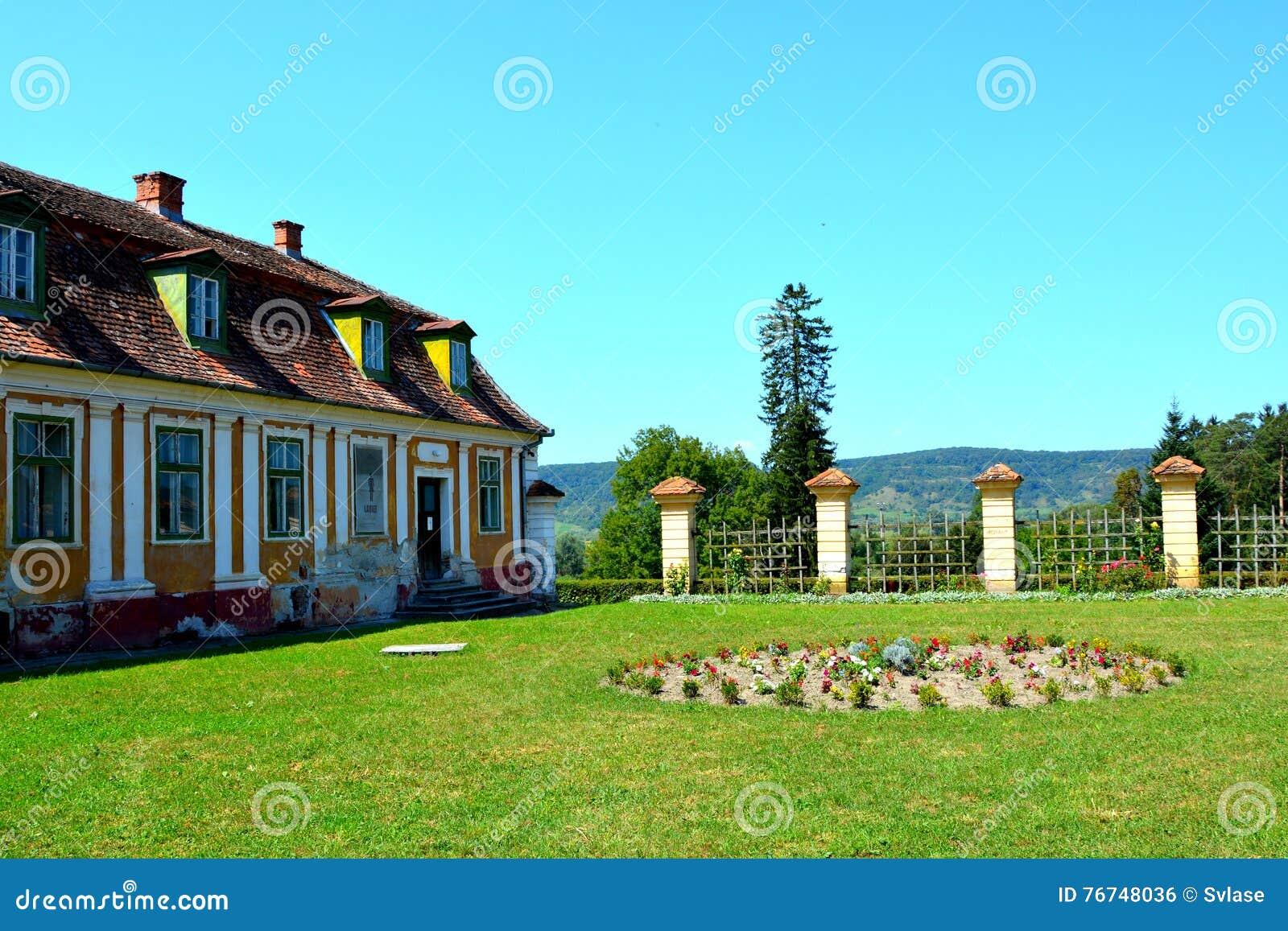 Jardín de Baron von Brukenthal Palace en Avrig