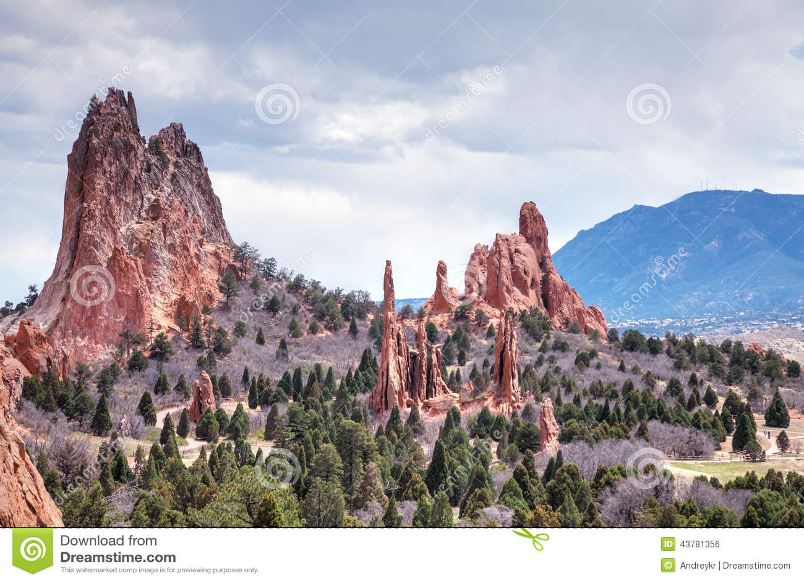 Jardín De Dioses En Colorado Springs Foto de archivo - Imagen de ...