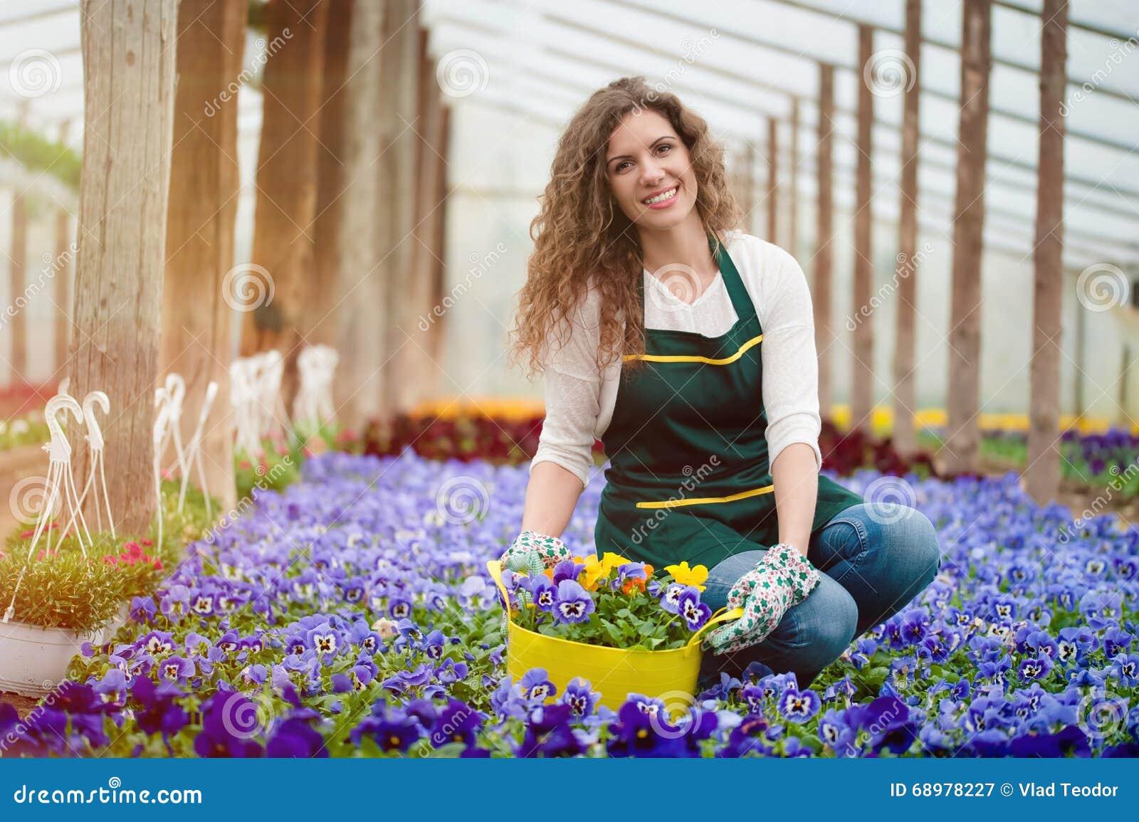 Jardín de flores violeta