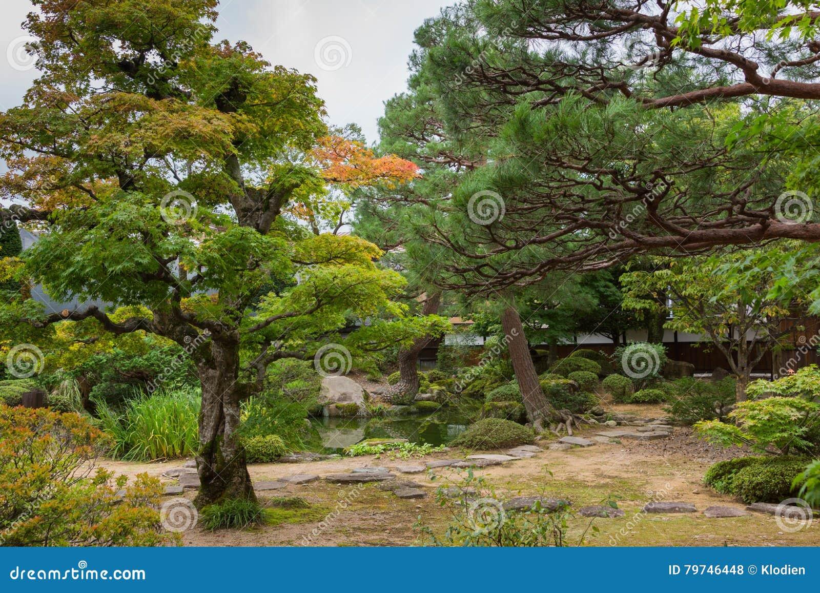 Jardín en la mansión del gobierno de Takayama Jinya