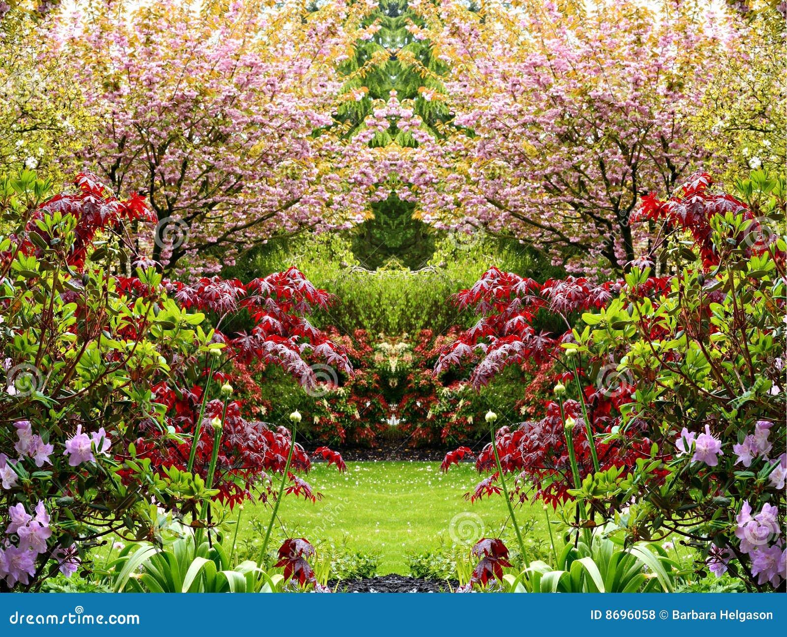 Jard n hermoso de la primavera fotos de archivo libres de for Jardines de primavera